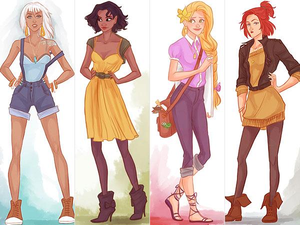 Princesas Disney Na Moda Atual Mania De Guria